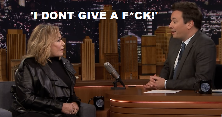 Roseanne tells Jimmy Fallon about supporting Trump I Don't Give a Fuck