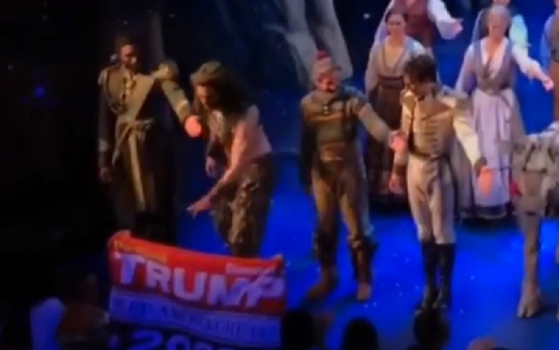 'Frozen' actor triggered by Trump 2020 sign, has a meltdown
