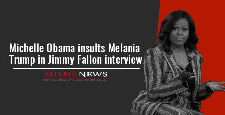 Michelle Obama insults Melania Trump in Jimmy Fallon interview