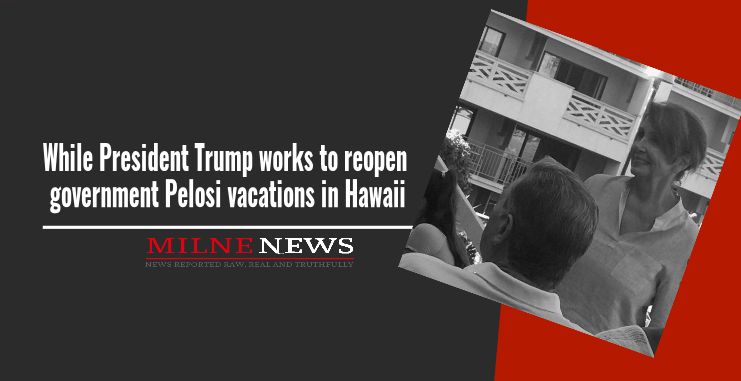 While President Trump works to reopen government Pelosi vacations in Hawaii