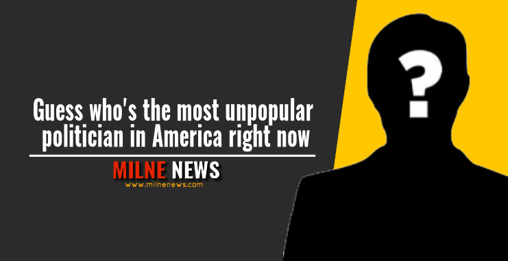Guess who's the most unpopular politician in America right now