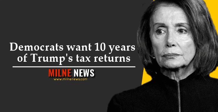 Democrats want 10 years of Trump's tax returns