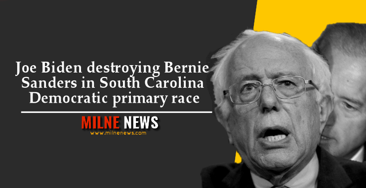 Joe Biden destroying Bernie Sanders in South Carolina Democratic primary race