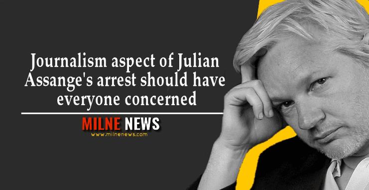 Journalism aspect of Julian Assange's arrest should have everyone concerned