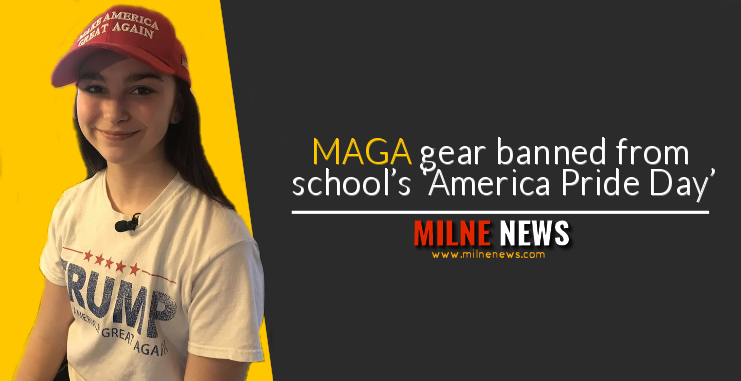 MAGA gear banned from school's 'America Pride Day'