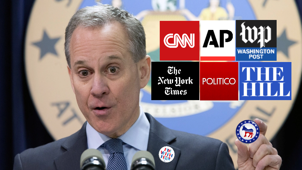 Mainstream Media Hides Eric Schneiderman's Democratic Affiliation