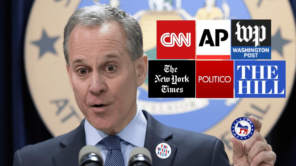 Mainstream Media Hides Eric Schneiderman's Democratic Affiliation