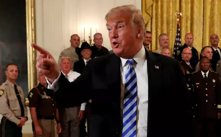 Trump sends a message to deep state operatives