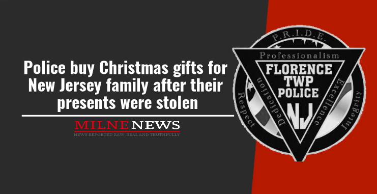 Police buy Christmas gifts for New Jersey family after their presents were stolen
