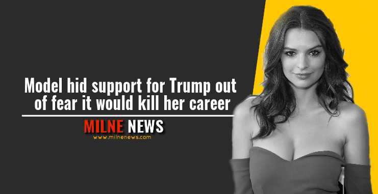 Model hid support for Trump out of fear it would kill her career