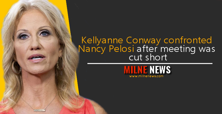 Kellyanne Conway confronted Nancy Pelosi after meeting was cut short
